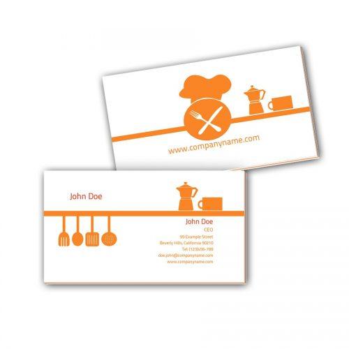 Visitenkarten mit Farbkern - Küche