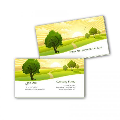 Visitenkarten mit Farbkern - Landschaft