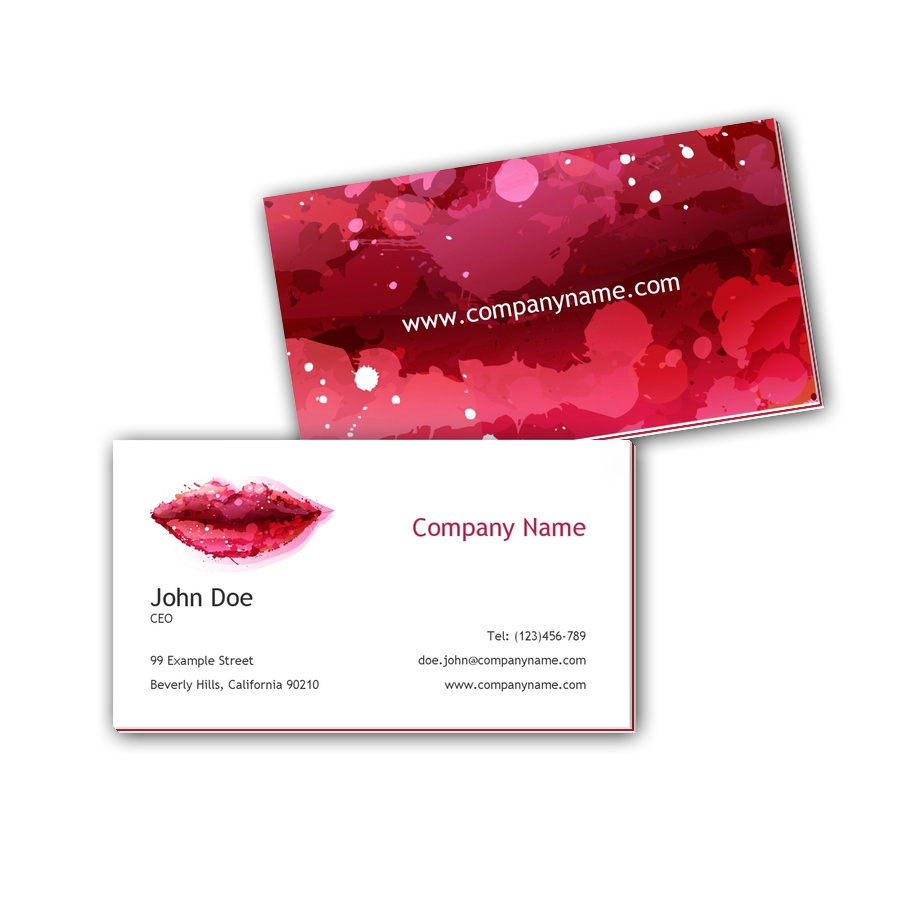 Visitenkarten mit Farbkern - Lippen