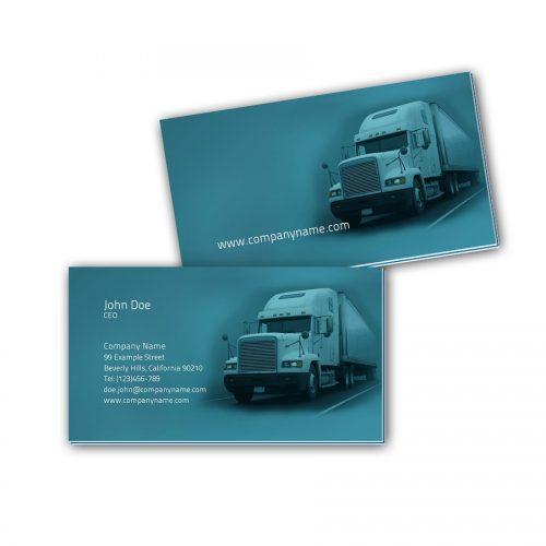 Visitenkarten mit Farbkern - Logistik