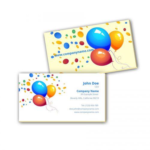 Visitenkarten mit Farbkern - Luftballons 2