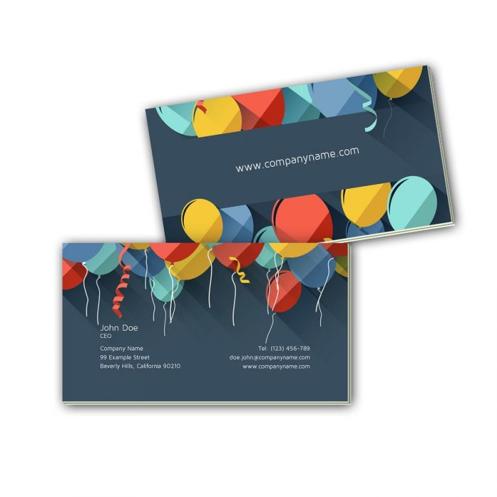 Visitenkarten mit Farbkern - Luftballons