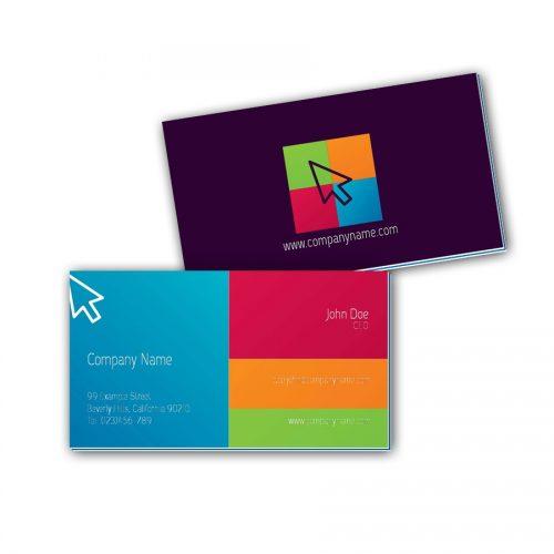 Visitenkarten mit Farbkern - Mauszeiger 2