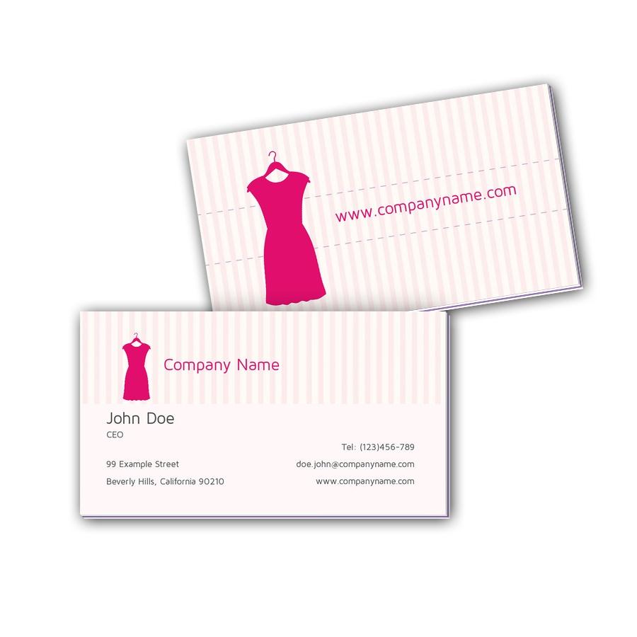 Visitenkarten mit Farbkern - Mode
