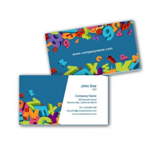 Visitenkarten mit Farbkern - Nachhilfe