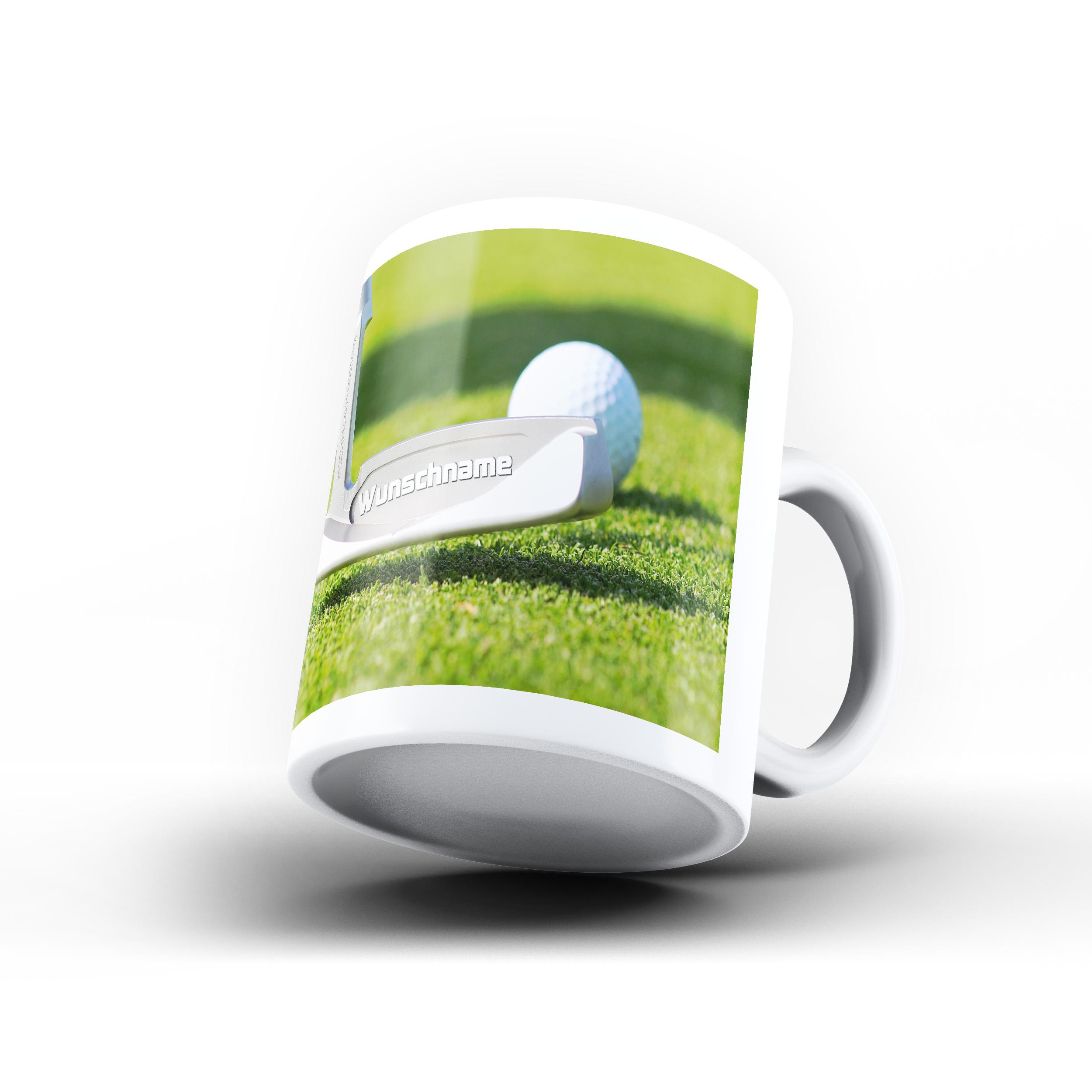 Tasse mit Golf-Motiv