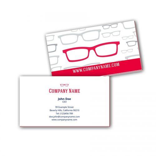 Visitenkarten mit Farbkern - Optiker 2