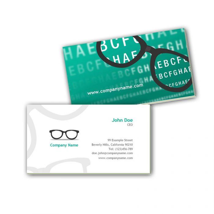 Visitenkarten mit Farbkern - Optiker