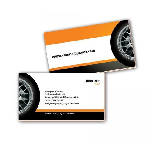 Visitenkarten mit Farbkern - Reifen