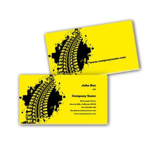 Visitenkarten mit Farbkern - Reifenspur