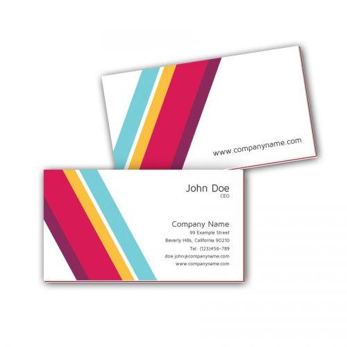 Visitenkarten mit Farbkern - Retro