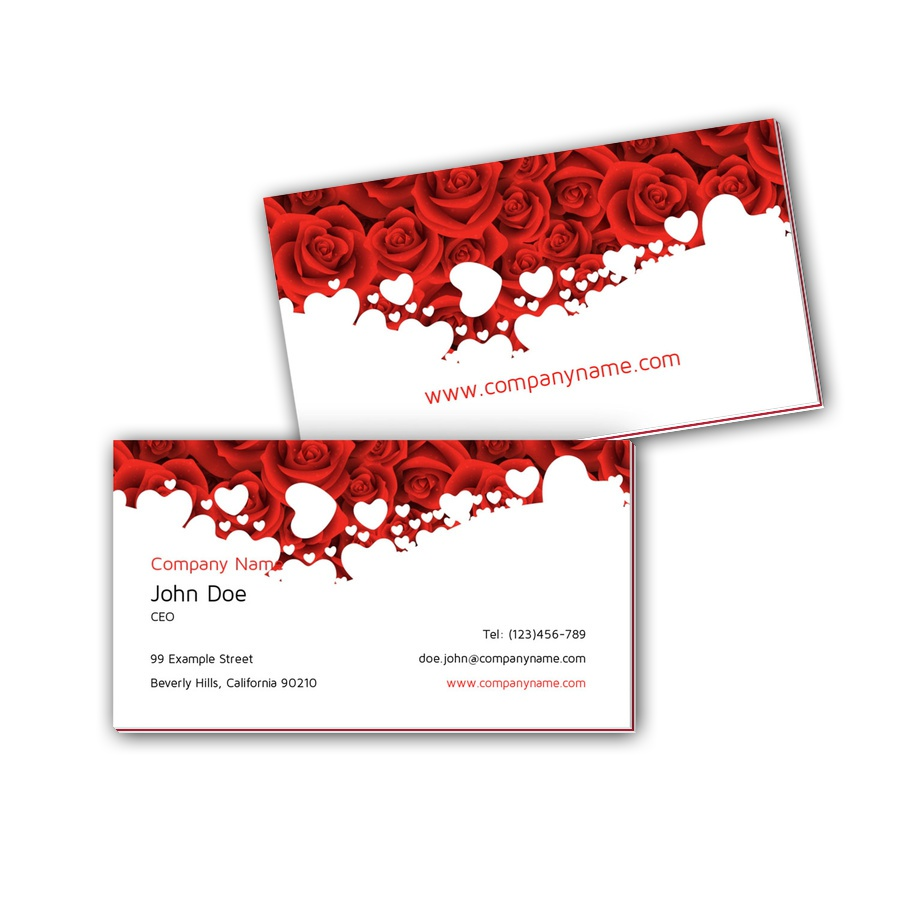Visitenkarten mit Farbkern - Rosen