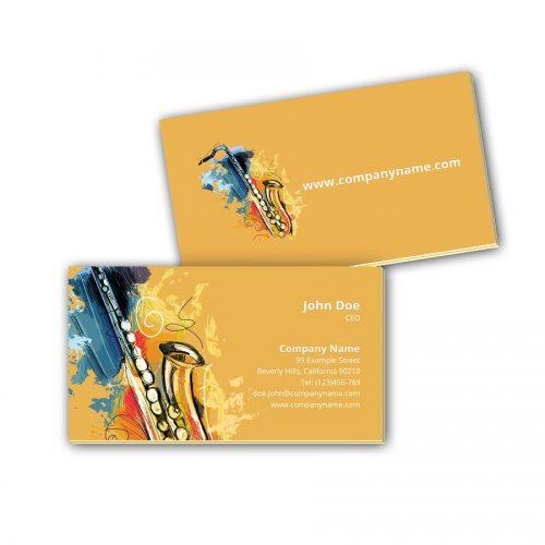 Visitenkarten mit Farbkern - Saxophone
