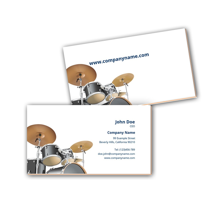 Visitenkarten mit Farbkern - Schlagzeug