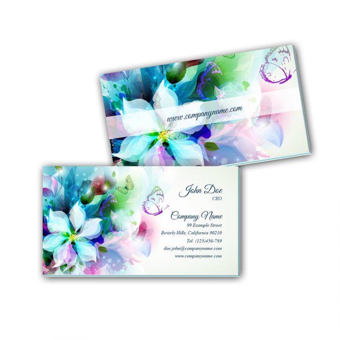 Visitenkarten mit Farbkern - Schmetterling