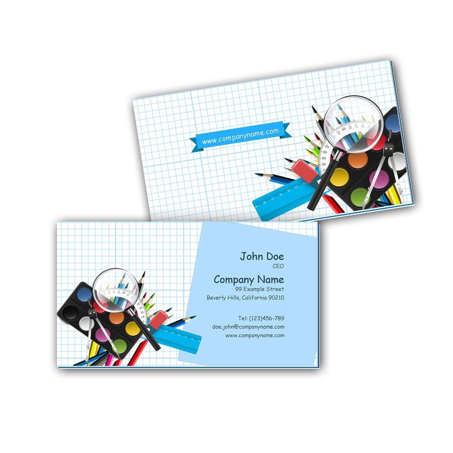 Visitenkarten mit Farbkern - Schule