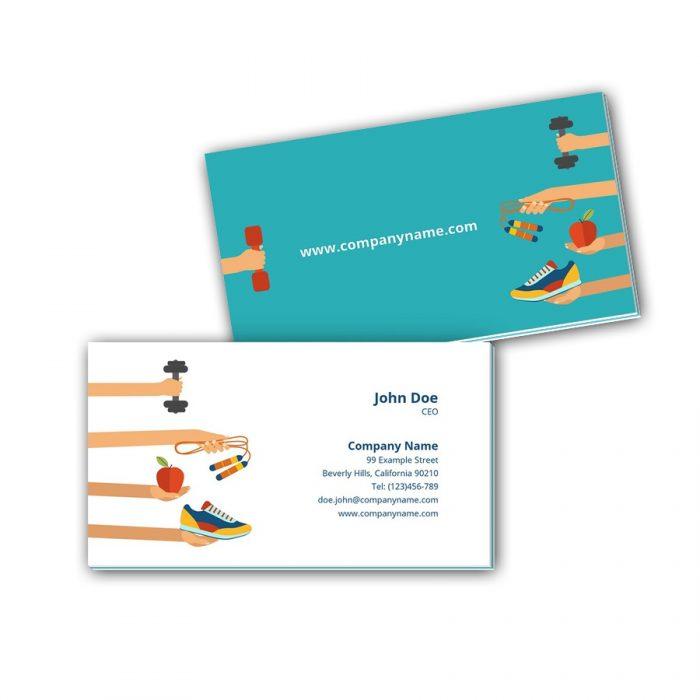 Visitenkarten mit Farbkern - Sport 2