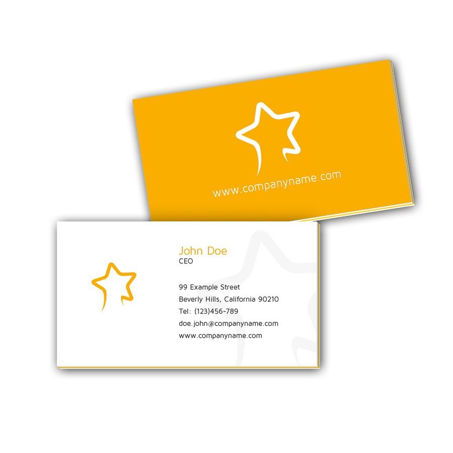 Visitenkarten mit Farbkern - Stern