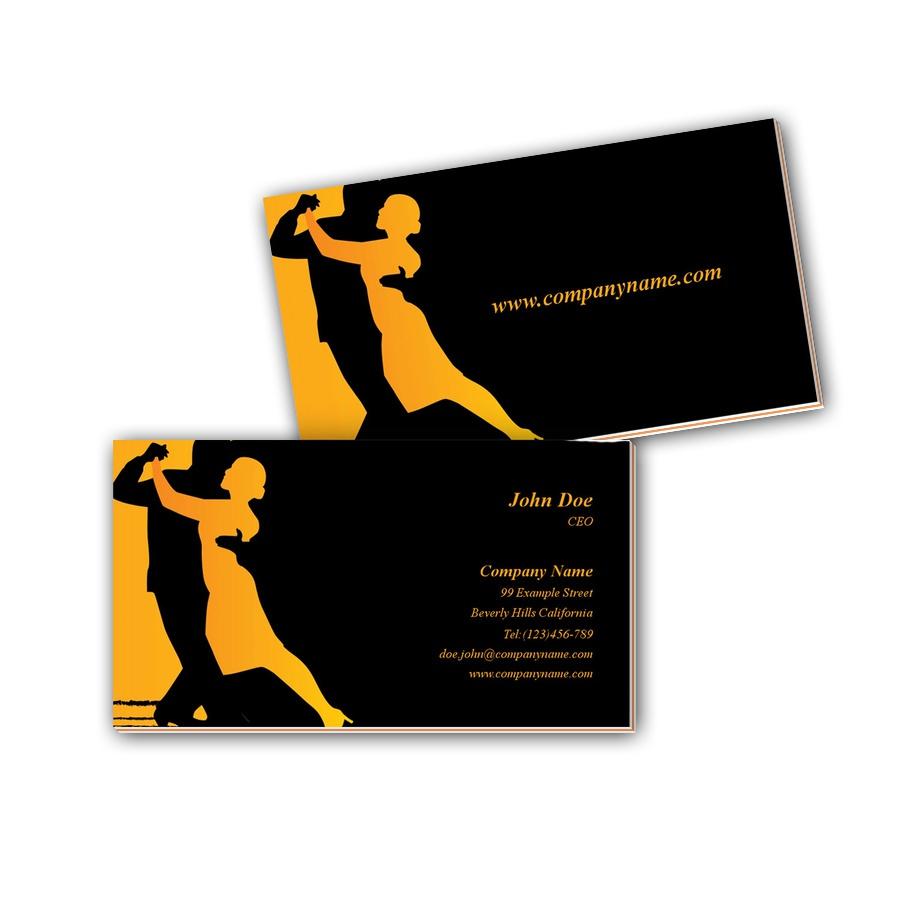 Visitenkarten mit Farbkern - Tango