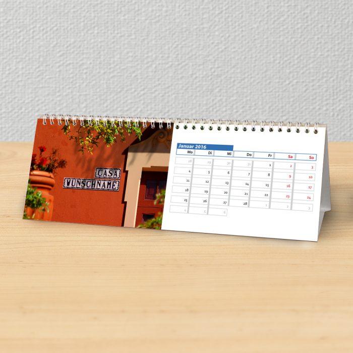 Tischkalender mit Urlaub