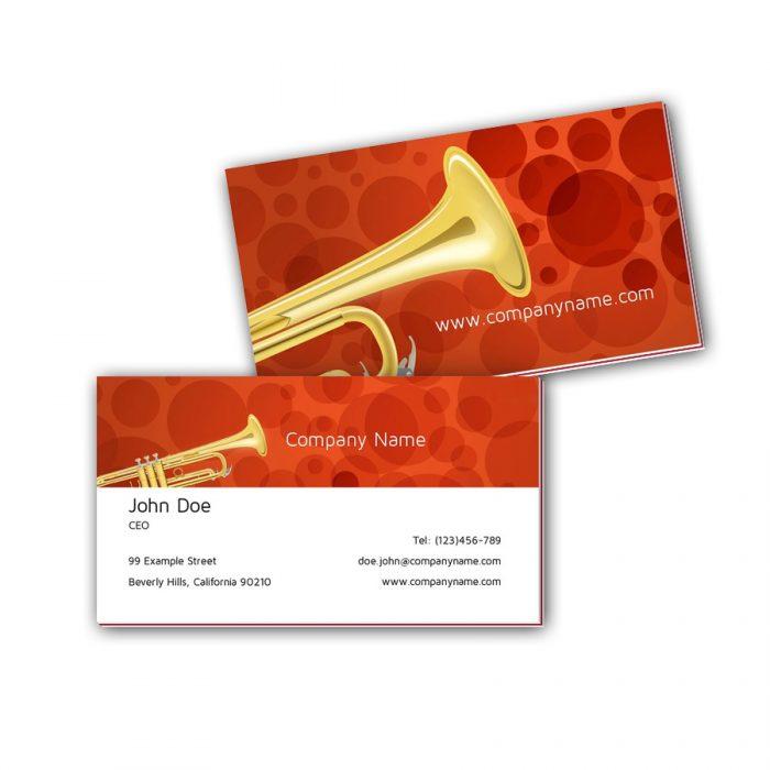 Visitenkarten mit Farbkern - Trompete