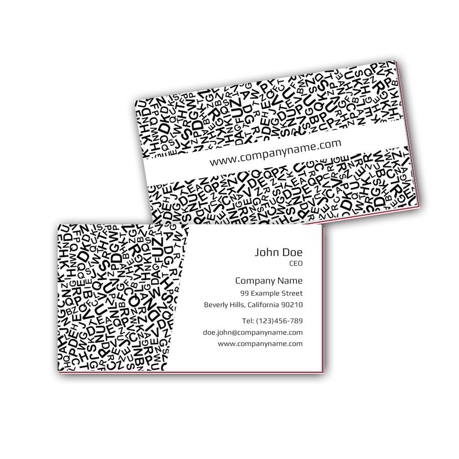 Visitenkarten mit Farbkern - Typographie