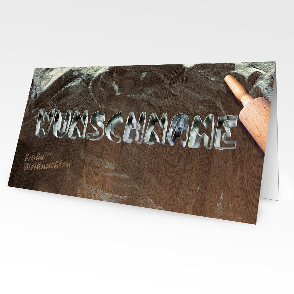 Edle Weihnachtskarten.Weihnachtskarten Mit Namen 10er Pack Motiv 4