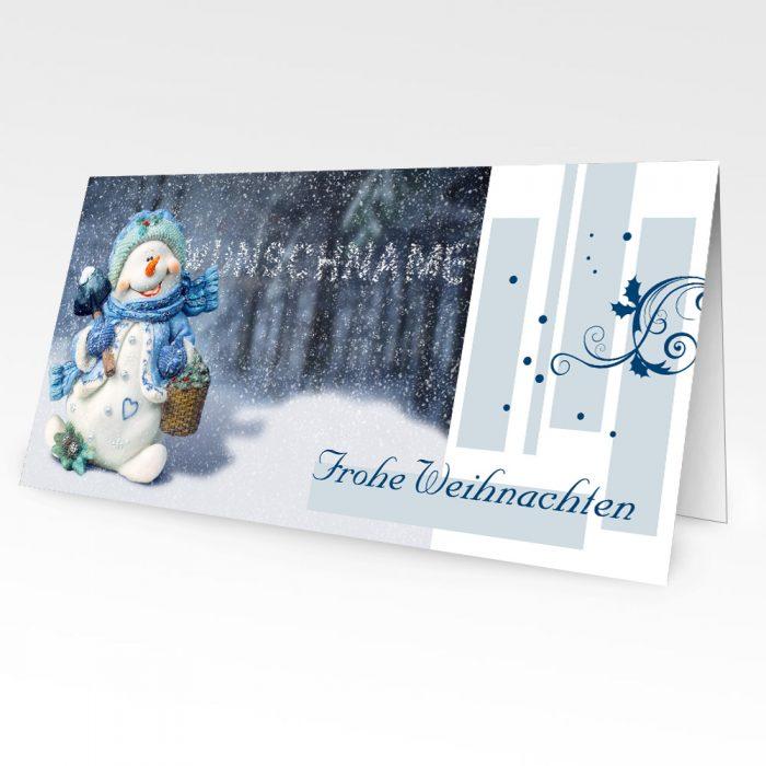 Personalisierte Weihnachtskarten mit Namen