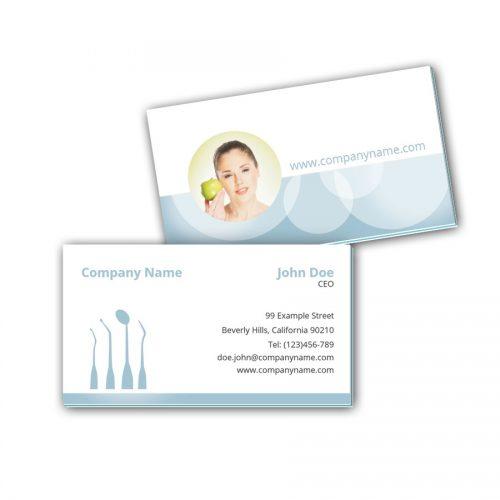 Visitenkarten mit Farbkern - Zahnarzt 2