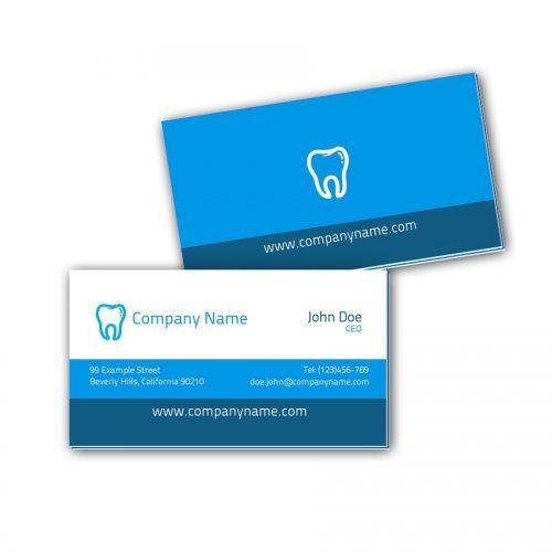 Visitenkarten mit Farbkern - Zahnarzt