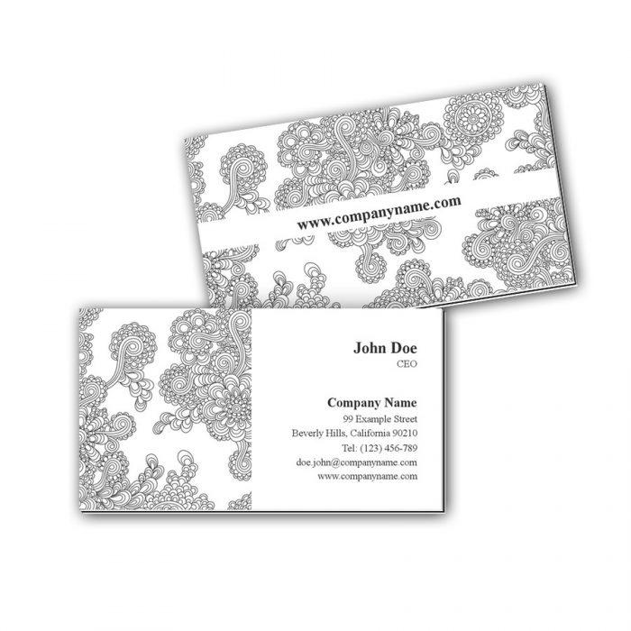 Visitenkarten mit Farbkern - Zeichnung