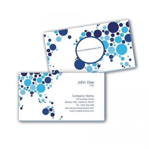 Visitenkarten mit Farbkern - Blaue Kreise