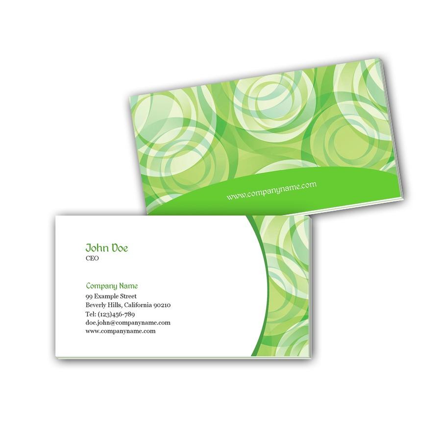 Visitenkarten mit Farbkern - elegantes Grün