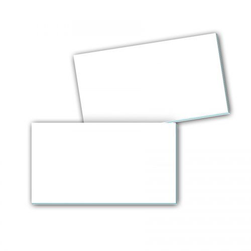 Visitenkarten mit Farbkern - leeres Layout
