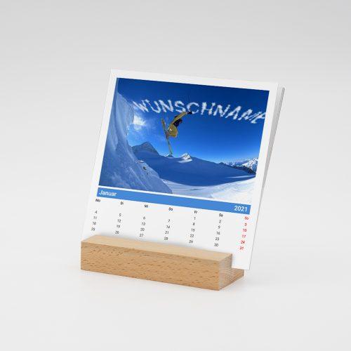 Namenskalender mit Holzfuß für Männer