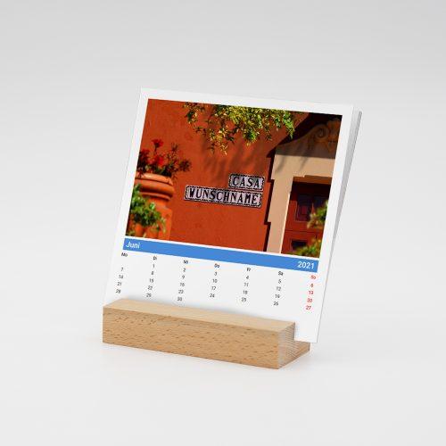 Namenskalender-Holzfuss-Urlaub